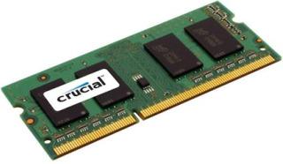 Crucial 4GB 204-pin SODIMM DDR3 PC3-12800, CL=11, Unbuffered operatīvā atmiņa