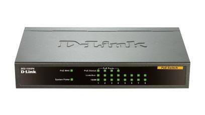 D-Link 8-port 10/100 Desktop Switch, 4 PoE Ports komutators