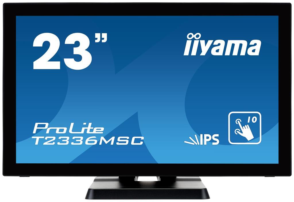 IIyama T2336MSC-B2, IPS touchscreen, Full HD, VGA, DVI-D, HDMI monitors
