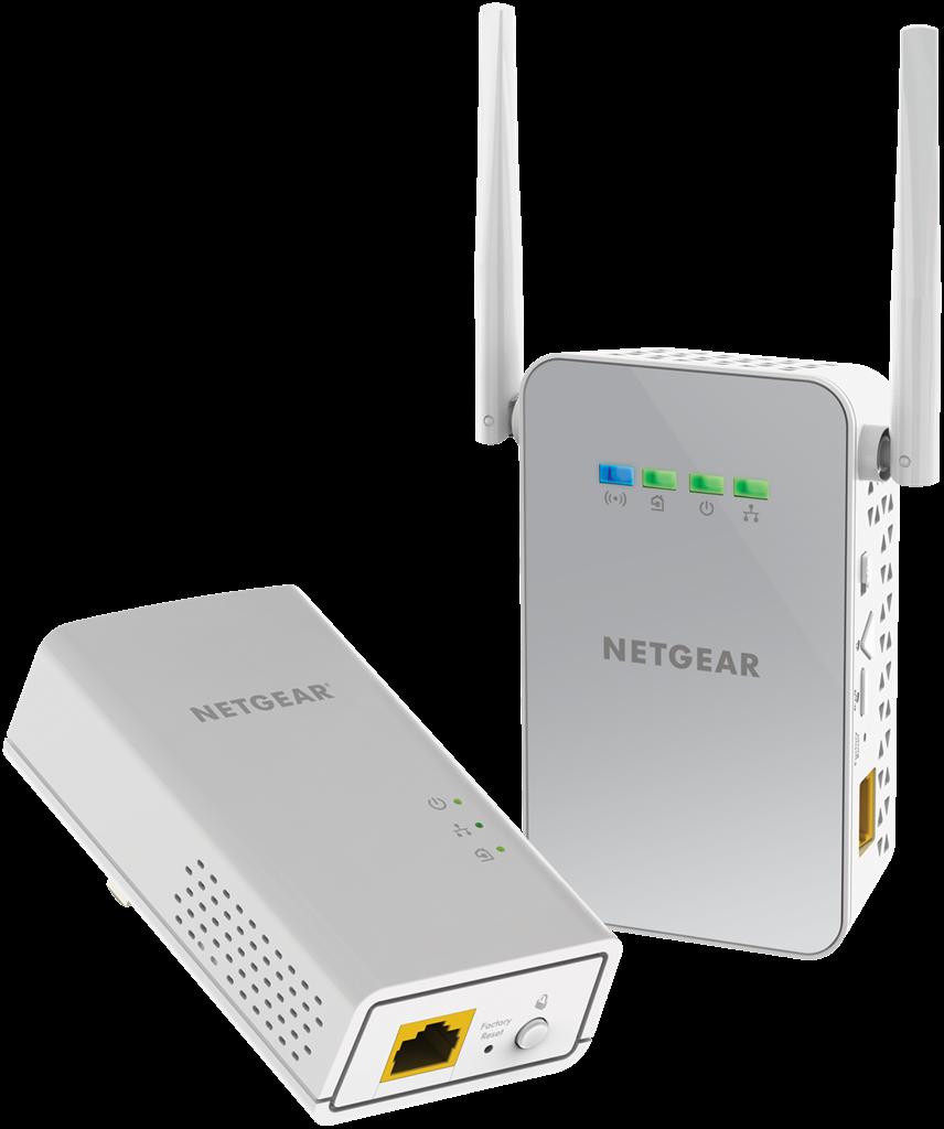 Netgear Powerline 1000Mbps AC650 1PT GbE Adapters Bundel + WiFi (PLW1000) POWERLINE adapteri