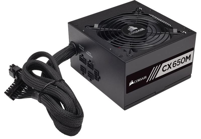 Corsair CX650M Semi-Modular ATX Power Supply, 100-240V, 650W Barošanas bloks, PSU