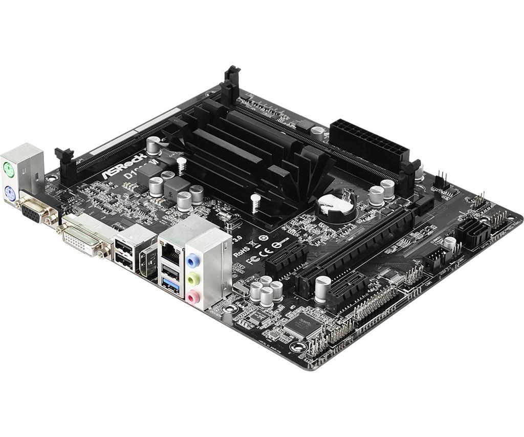 ASROCK D1800M CPU on board J1800 mATX pamatplate, mātesplate