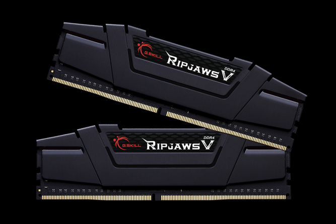G.SKILL RipjawsV 32GB Black [2x16GB 3200MHz DDR4 CL16 XMP 2.0 rev2 DIMM] operatīvā atmiņa