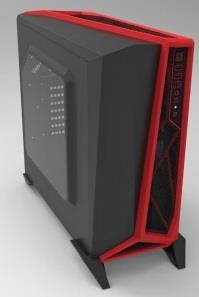 Corsair case Carbide Series SPEC-ALPHA, Atx, Micro Atx, Mini Itx, black&red Datora korpuss