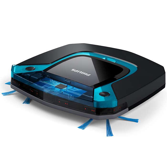 PHILIPS SmartPro Easy robot putekļsūcējs (zils ar melnu) FC8794/01 robots putekļsūcējs