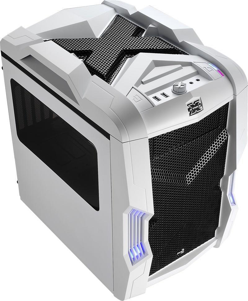 PC case AeroCool Micro-ATX STRIKE-X CUBE WHITE, USB3 Datora korpuss
