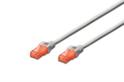 DIGITUS Premium CAT 6 UTP patch cable, Length 2,0m, Color grey tīkla kabelis