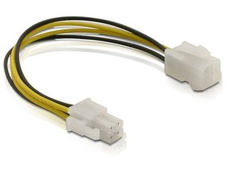 Delock Power cable P4 male/female kabelis datoram