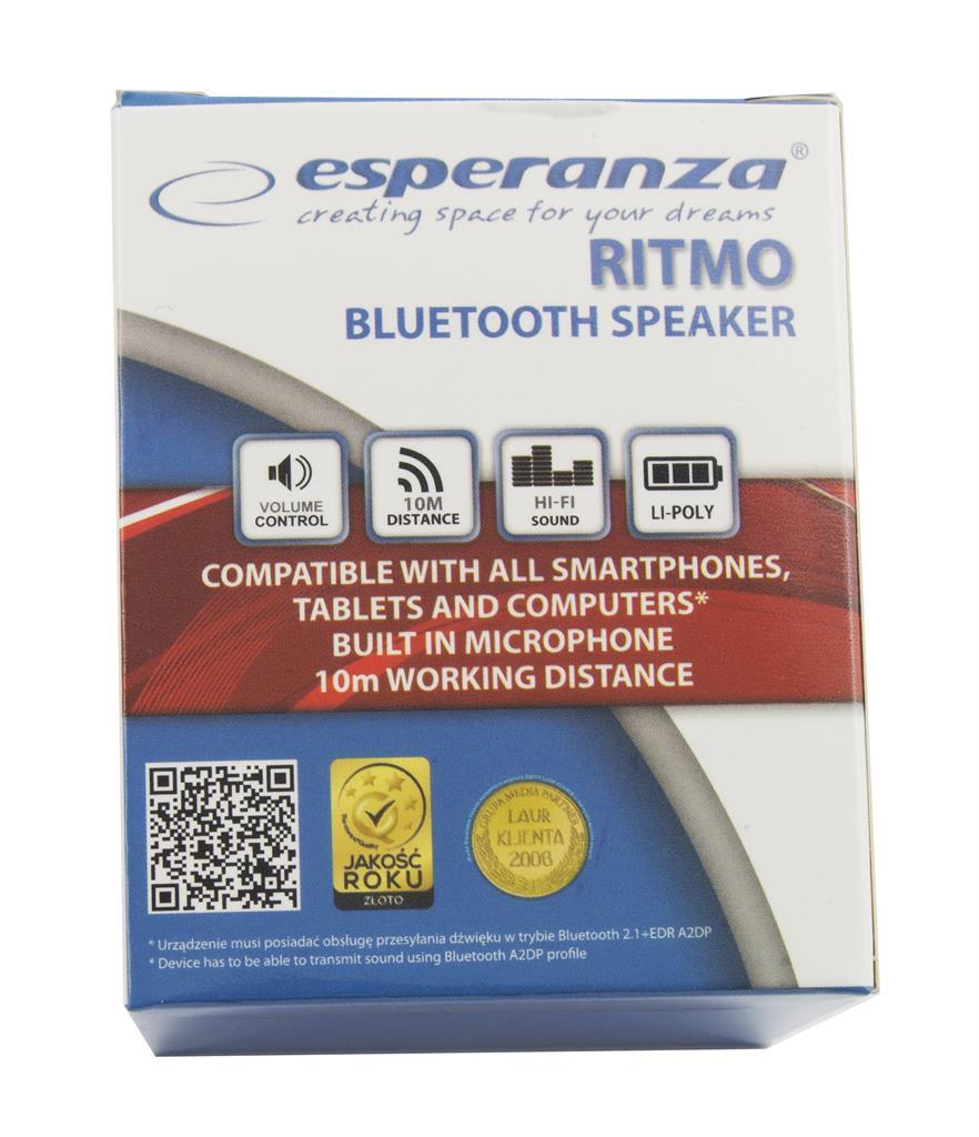 ESPERANZA EP115K BLUETOOTH SPEAKER RITMO pārnēsājamais skaļrunis