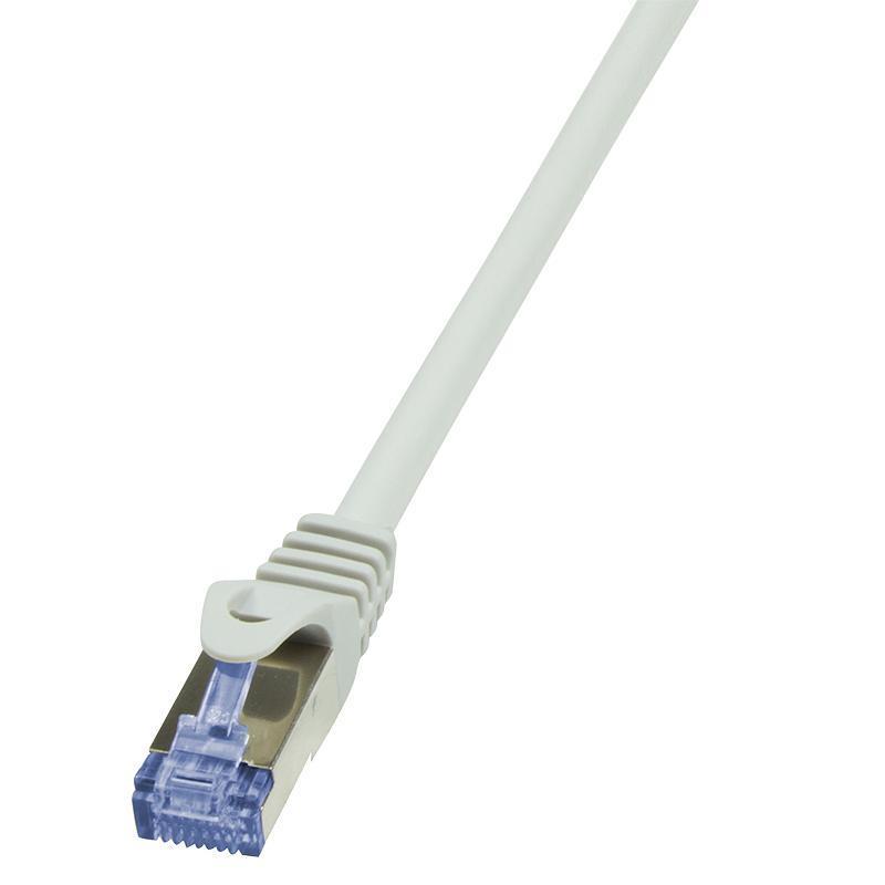 LOGILINK - Patchcord Cat.6A 10G S/FTP PIMF PrimeLine 0,50m grey tīkla kabelis