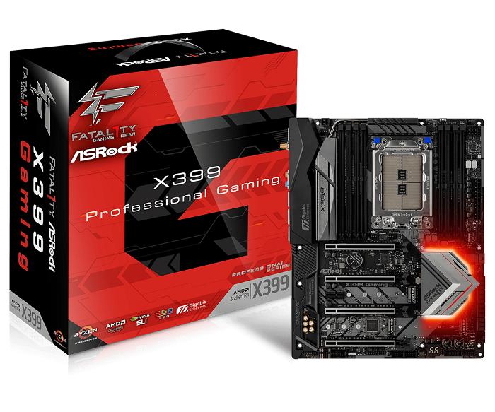 ASRock Fatal1ty X399 Professional Gaming, AMD X399 Mainboard - S pamatplate, mātesplate