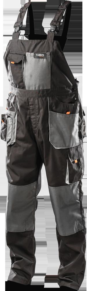 NEO Work trousers with bib r.XL / 56 (81-240-XL)