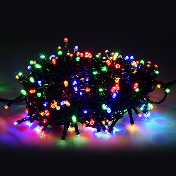 Lampki choinkowe LED na kabel kolorowe 100szt. 1100489