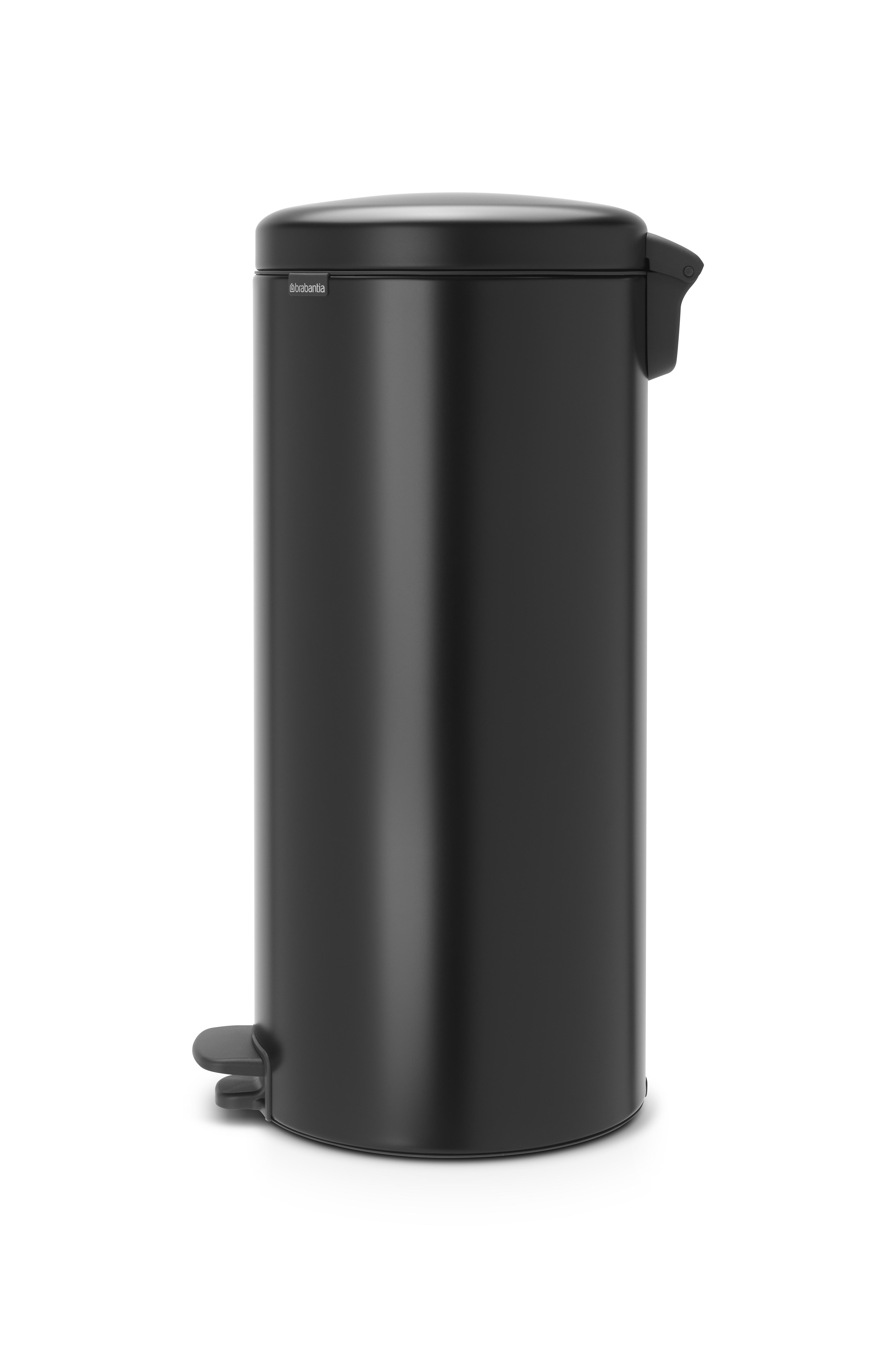 BRABANTIA atkritumu tvertne ar pedāli NewIcon, 30 l, Matt Black 114540 atkritumu tvertne