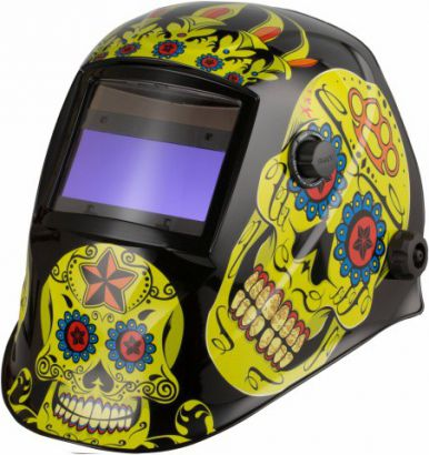 Automatic helmet aps-510g flower skull BW APS 510GS