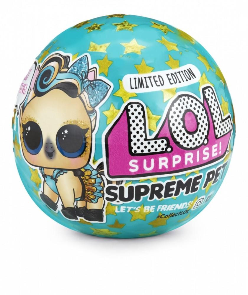MGA L.O.L. Surprise Pets Supreme 1 pcb bērnu rotaļlieta