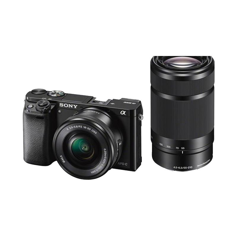 SONY ILCE-6000YB 16-50mm + 55-210mm Spoguļkamera SLR