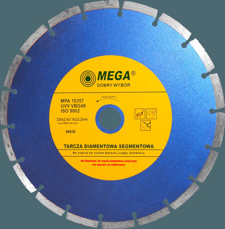 Mega Dimanta disks BSG 230x22mm betonam