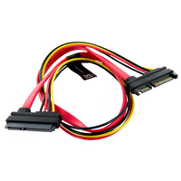 4World HDD Cable | 22pin SATA (F) - 22pin SATA (M) | 50cm | red kabelis datoram
