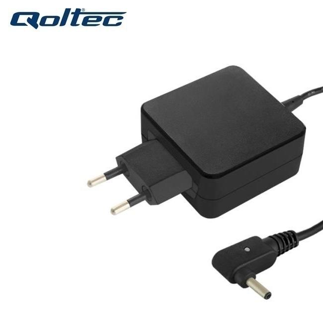 Qoltec 50062 (3.0x1.00mm) 45W 2.37A 19V AC Tīkla lādētājs priekš Asus Zenbook portatīvajiem datoriem iekārtas lādētājs