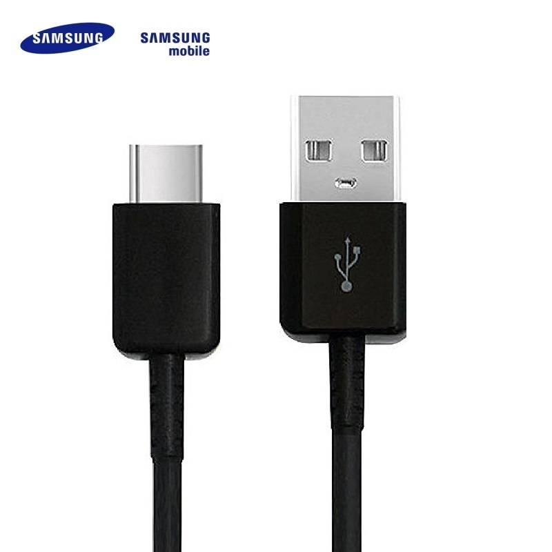 Samsung EP-DG950CBE Galaxy S8 S8+ USB 2.0 uz Type-C 3.1 Qualcom Datu un uzlādes Kabelis 1.2m Melns (OEM) USB kabelis