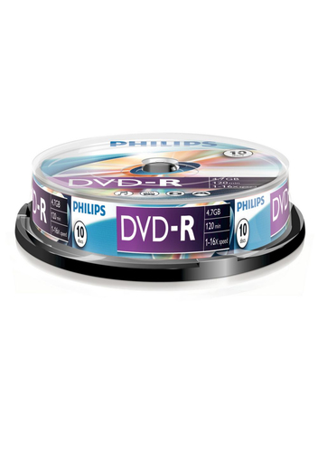 Philips DVD-R 4,7GB 10pcs spindel 16x matricas