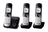 Panasonic KX-TG6823GB Trio Schnurlostelefon with AB black + 2x Mobilteil telefons