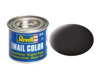 REVELL Email Color 06 Tar Black Mat 14ml biroja tehnikas aksesuāri