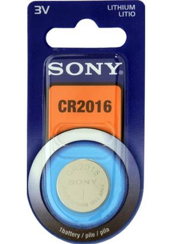 Sony CR2016B1A Battery 3V 85mAh Blister CR2016 akumulators, baterija portatīvajiem datoriem