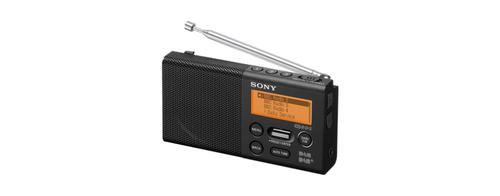 Radio Sony XDR-P1DBP, Black (XDRP1DBPB.CE7) radio, radiopulksteņi