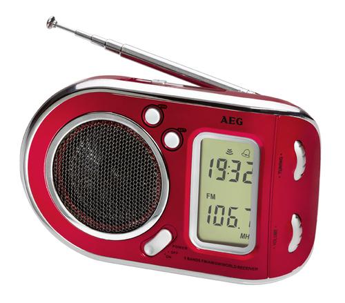 AEG WE 4125 red radio, radiopulksteņi