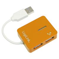 """Logilink UA0137 USB 2.0  Hub 4-port, """"Smile"""", orange USB centrmezgli"""