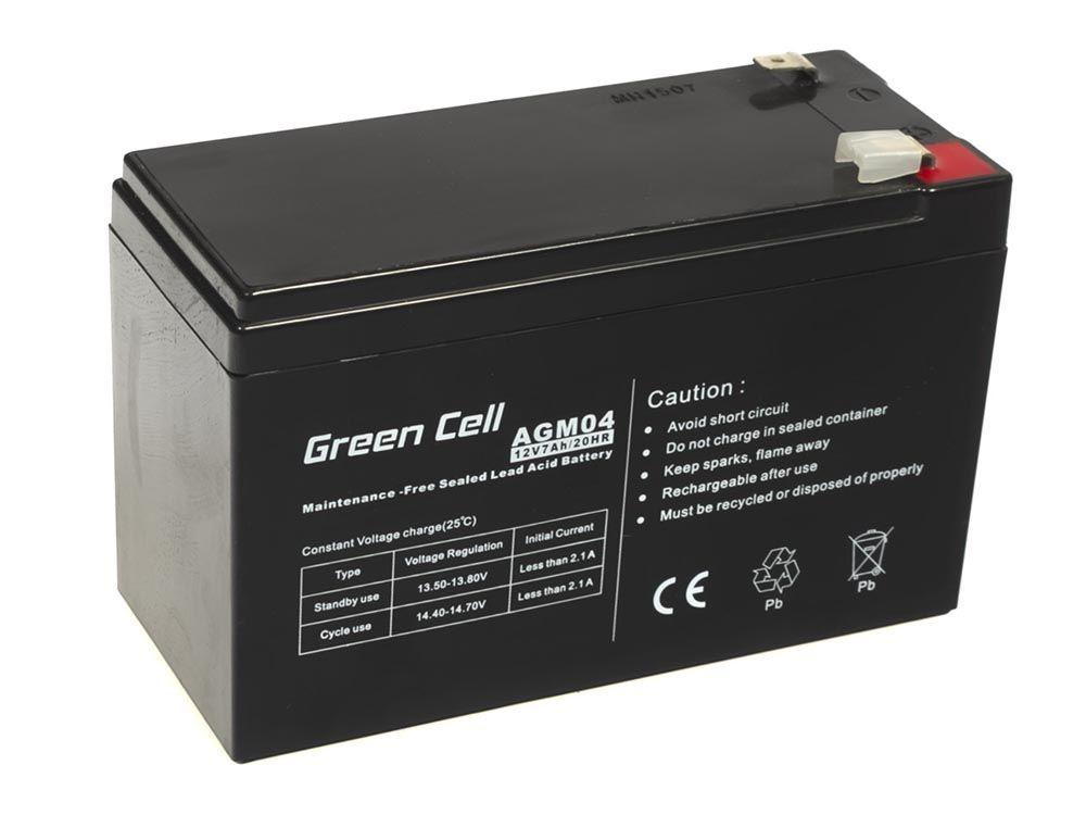 Green Cell AGM 12V 7Ah (AGM04) UPS aksesuāri