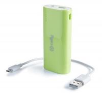 Celly Universal Power Bank 3600mAh (Green) Powerbank, mobilā uzlādes iekārta