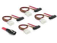 SAS Kabel Delock Mini SAS 36Pin -> 4x SAS 29Pin + 4Pin Molex kabelis datoram