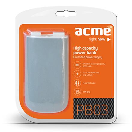 ACME PB03 Powerbank, mobilā uzlādes iekārta