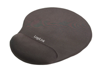 LOGILINK - Gel mouse pad with wrist rest support, black peles paliknis