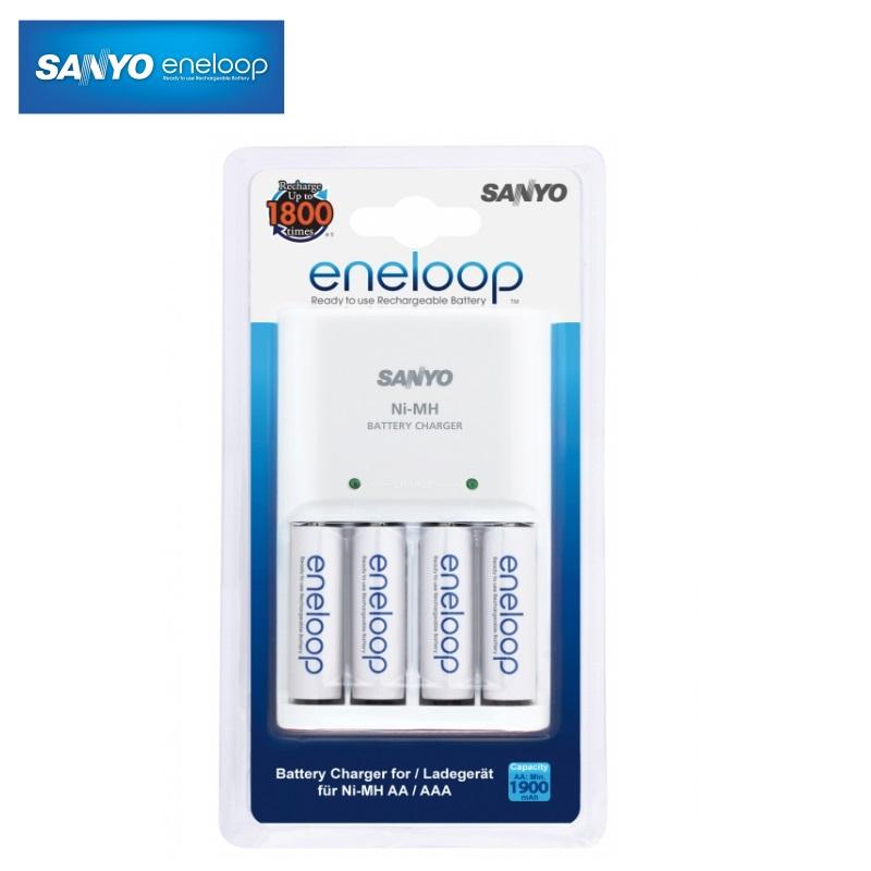 Eneloop AA/AAA Ni-Mh akumul toru lādētājs ar 4gab. AA 1900mAh baterij m MQN04-E4-3UTGB iekārtas lādētājs
