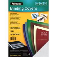 Fellowes Binding cover (leather pattern) DELTA A4, grey - FSC, 100 pcs biroja tehnikas aksesuāri