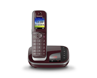Panasonic KX-TGJ320GR weinrot telefons