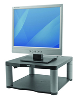 Fellowes - stand for monitor with shelf - graphite