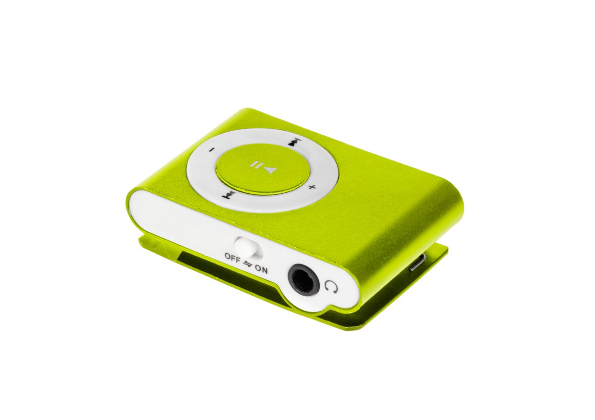 Quer MP3 player with card reader- yellow MP3 atskaņotājs