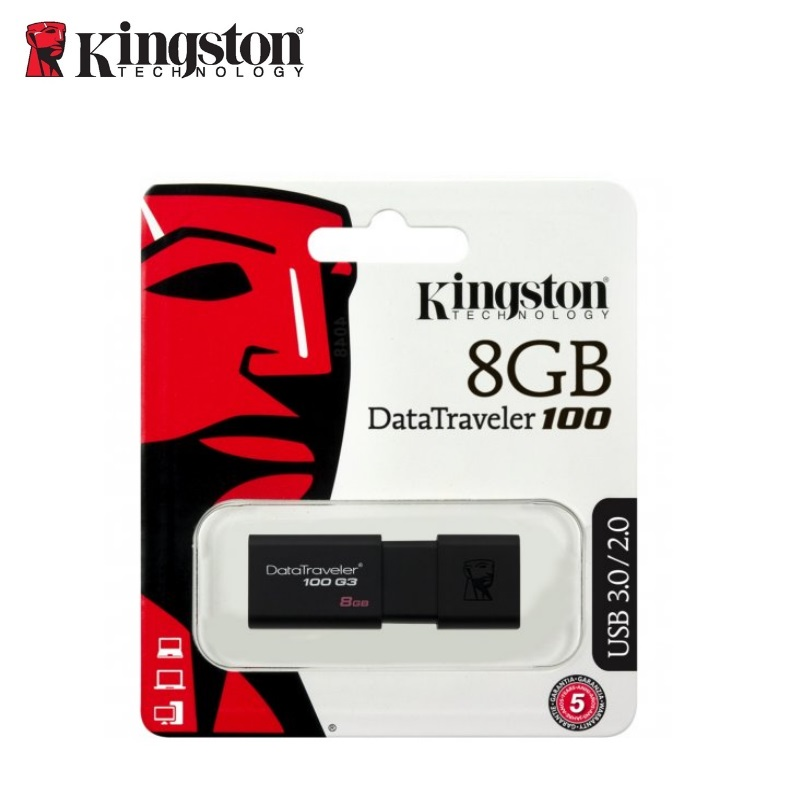 KINGSTON 8GB USB3.0 DataTraveler 100 G3 USB Flash atmiņa
