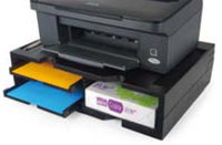 A4 Organizer/Stand for printers, MFP's and monitors (black, 4 shelves) biroja tehnikas aksesuāri