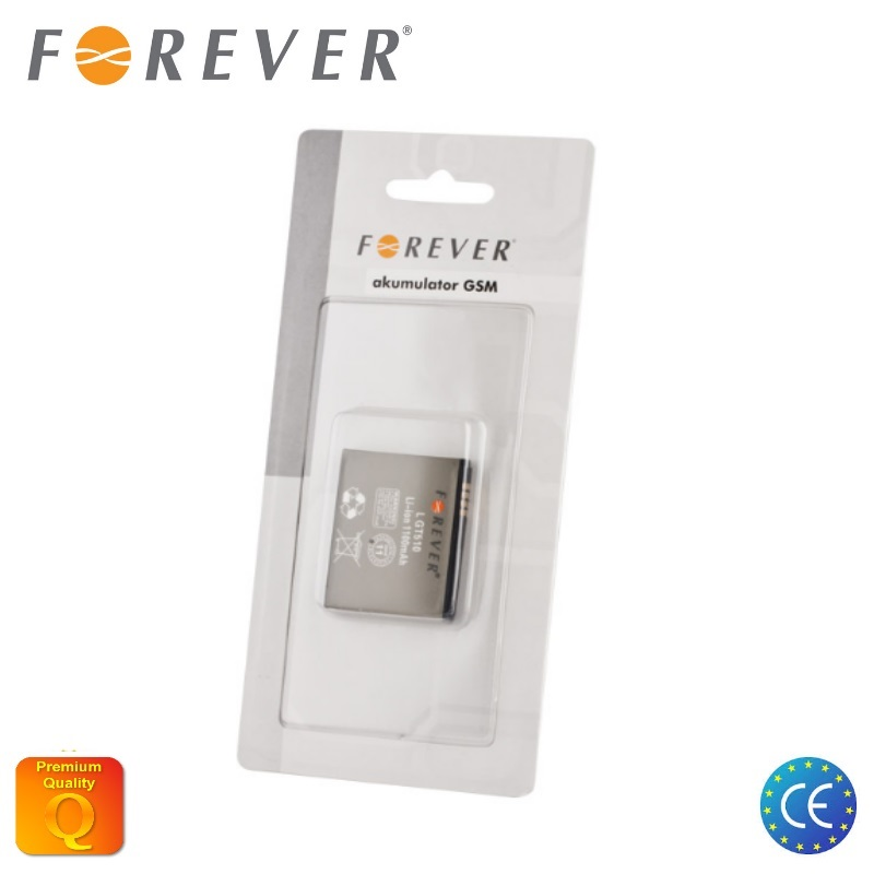 Forever Akumulators LG GT510 Li-Ion 1100 mAh HQ Analogs LGIP akumulators, baterija mobilajam telefonam