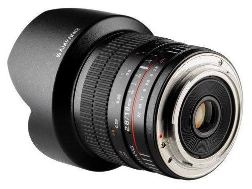 Samyang 10mm F2.8 Canon Black F1120401101 foto objektīvs