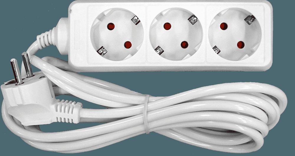 Besk pagarinātājs 3-vietīgs 1.5m a/z pievadvads 3Gx1mm elektrības pagarinātājs