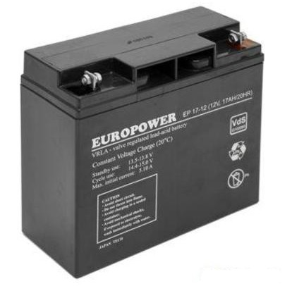 EUROPOWER BATTERY 12V 17AH VRLA/EP17-12 drošības sistēma