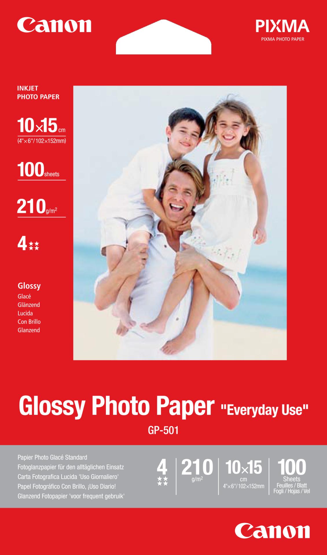 CANON GP-501 photo paper 10x15 100Sheet foto papīrs