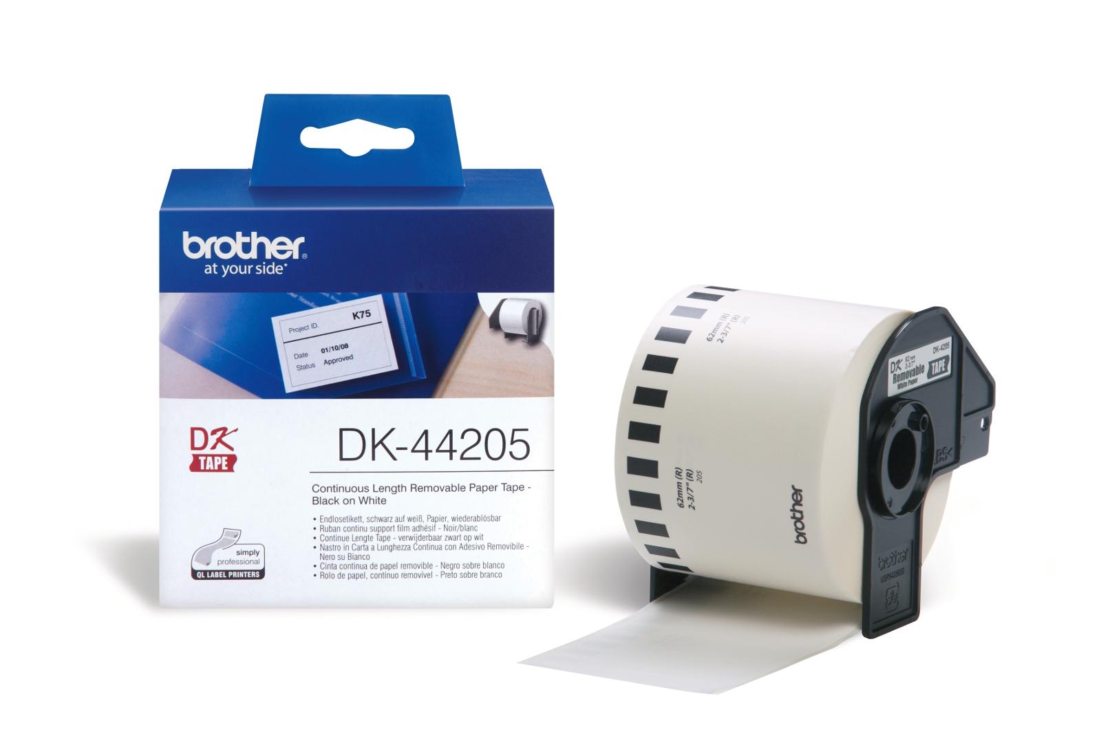 BROTHER DK44205 endlesslabel paper white biroja tehnikas aksesuāri